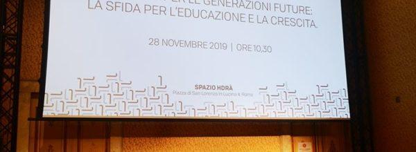 """""""La scuola per le generazioni future: la sfida per l'educazione e la crescita"""""""